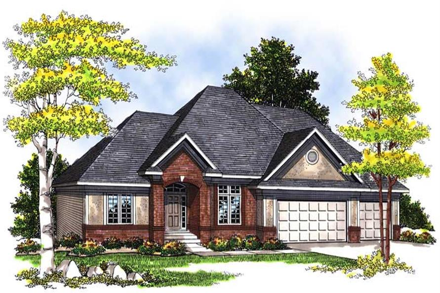 3-Bedroom, 2232 Sq Ft Ranch Home Plan - 101-1627 - Main Exterior