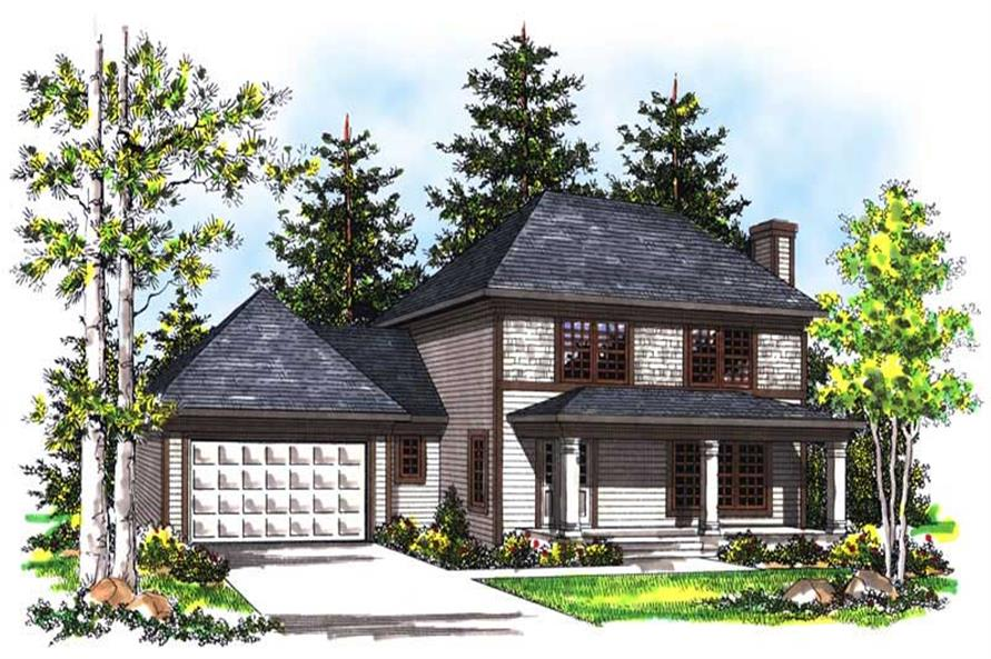3-Bedroom, 1561 Sq Ft Country Home Plan - 101-1631 - Main Exterior