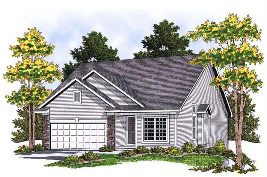 3-Bedroom, 2241 Sq Ft Bungalow Home Plan - 101-1634 - Main Exterior