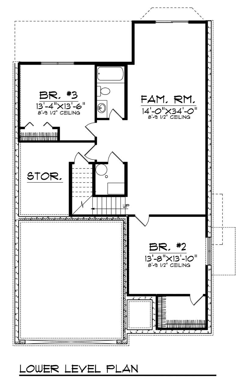 Bungalow home with 3 bdrms 2241 sq ft floor plan 101 1634 Cost of building a basement per square foot