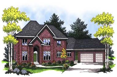 5-Bedroom, 5009 Sq Ft Luxury Home Plan - 101-1643 - Main Exterior
