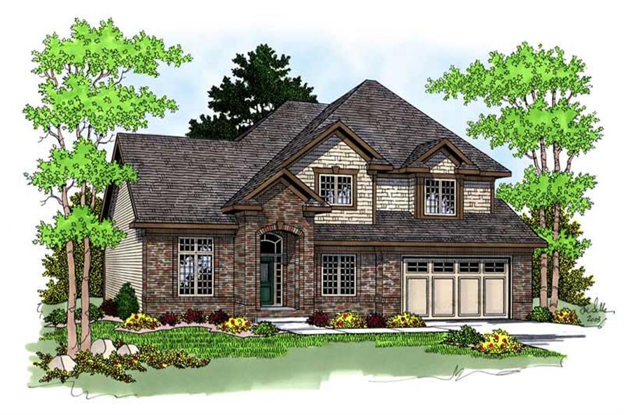 1-Bedroom, 2420 Sq Ft Traditional Home Plan - 101-1649 - Main Exterior