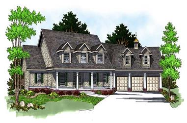 4-Bedroom, 3730 Sq Ft Country Home Plan - 101-1650 - Main Exterior