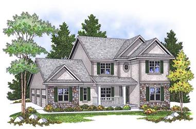 4-Bedroom, 2325 Sq Ft Country House Plan - 101-1651 - Front Exterior