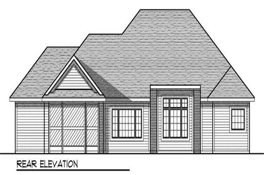 Home Plan Rear Elevation of this 3-Bedroom,2275 Sq Ft Plan -101-1653