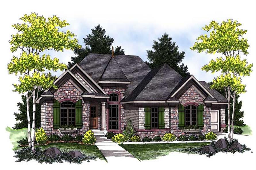 3-Bedroom, 2275 Sq Ft European Home Plan - 101-1653 - Main Exterior