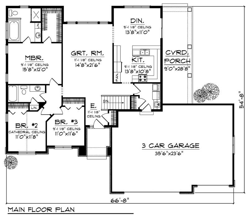 House Design 101: Craftsman Home With 3 Bdrms, 1646 Sq Ft