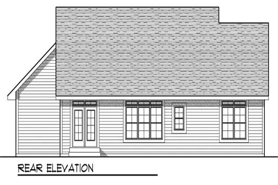 Home Plan Rear Elevation of this 3-Bedroom,1664 Sq Ft Plan -101-1656