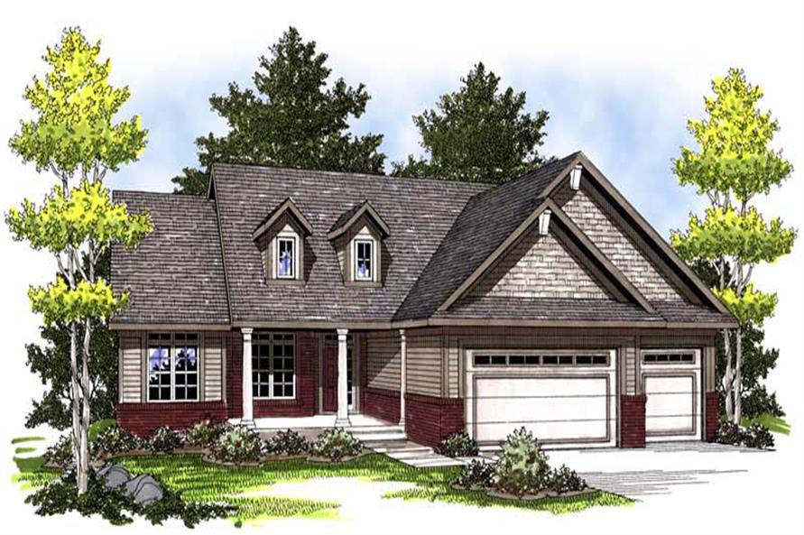 3-Bedroom, 1664 Sq Ft Country House Plan - 101-1656 - Front Exterior