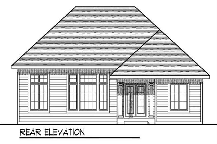 Home Plan Rear Elevation of this 3-Bedroom,1867 Sq Ft Plan -101-1657