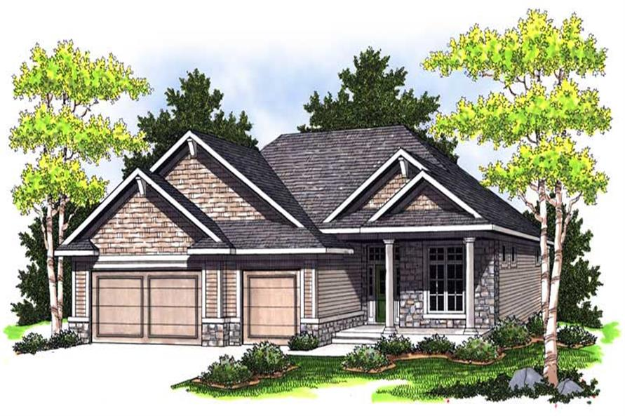 3-Bedroom, 1867 Sq Ft Colonial House Plan - 101-1657 - Front Exterior