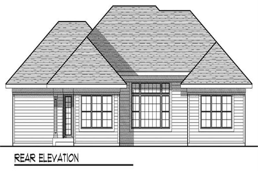 Home Plan Rear Elevation of this 3-Bedroom,1934 Sq Ft Plan -101-1658