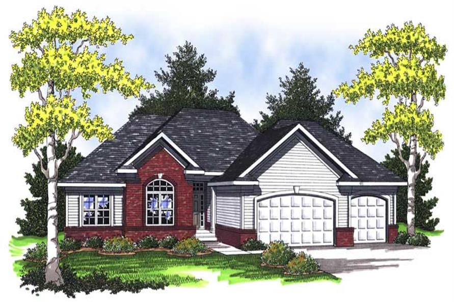 3-Bedroom, 1934 Sq Ft Ranch Home Plan - 101-1658 - Main Exterior