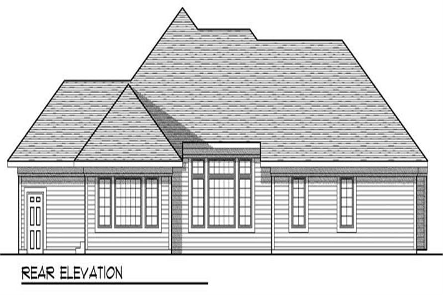 Home Plan Rear Elevation of this 3-Bedroom,1937 Sq Ft Plan -101-1659