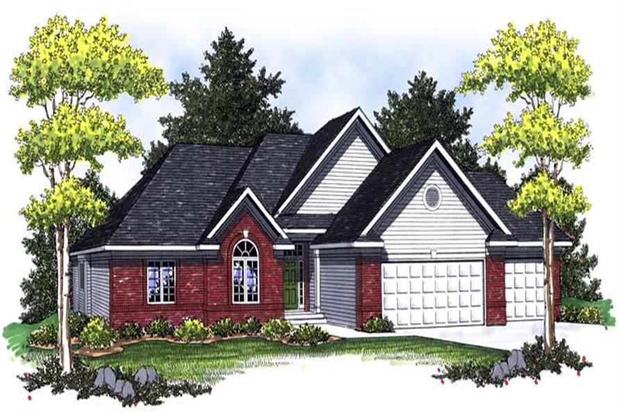 3-Bedroom, 1937 Sq Ft Country Home Plan - 101-1659 - Main Exterior