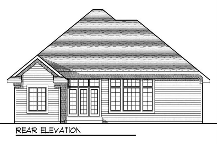 Home Plan Rear Elevation of this 3-Bedroom,1973 Sq Ft Plan -101-1660