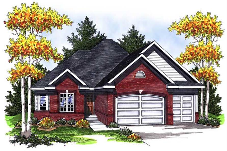 3-Bedroom, 1973 Sq Ft Ranch Home Plan - 101-1660 - Main Exterior