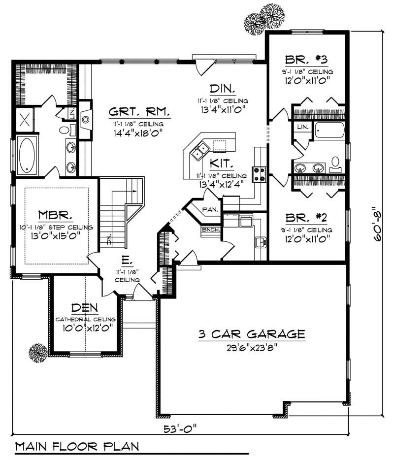 House Design 101: 3 Bedrms, 2 Baths