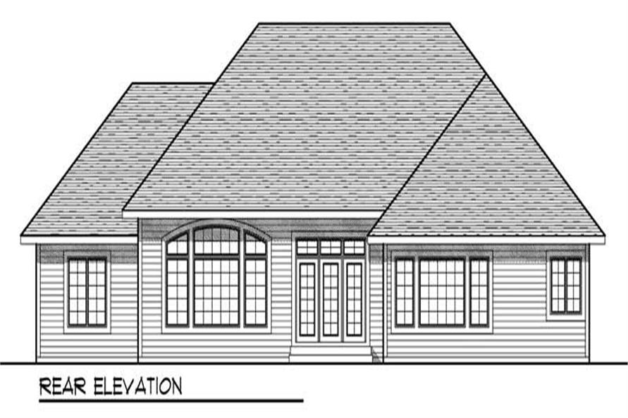 Home Plan Rear Elevation of this 3-Bedroom,2306 Sq Ft Plan -101-1664