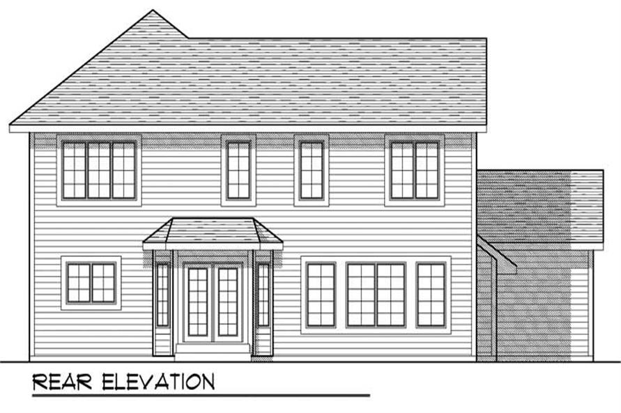 Home Plan Rear Elevation of this 4-Bedroom,2345 Sq Ft Plan -101-1665