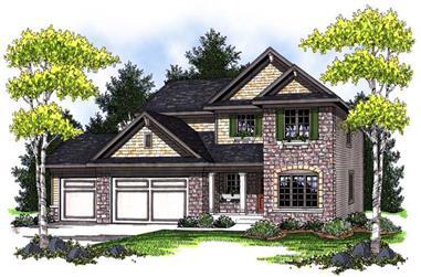 4-Bedroom, 2345 Sq Ft Craftsman Home Plan - 101-1665 - Main Exterior