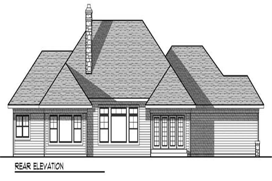 Home Plan Rear Elevation of this 3-Bedroom,2508 Sq Ft Plan -101-1669