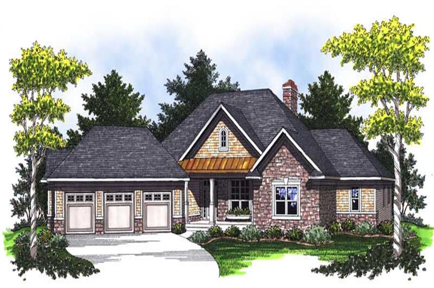 3-Bedroom, 2508 Sq Ft Country Home Plan - 101-1669 - Main Exterior