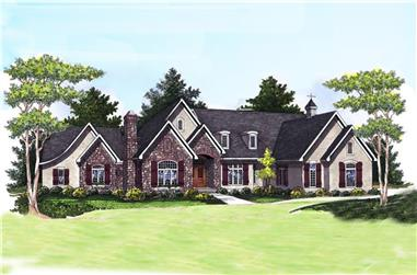 3-Bedroom, 4190 Sq Ft Traditional House Plan - 101-1671 - Front Exterior