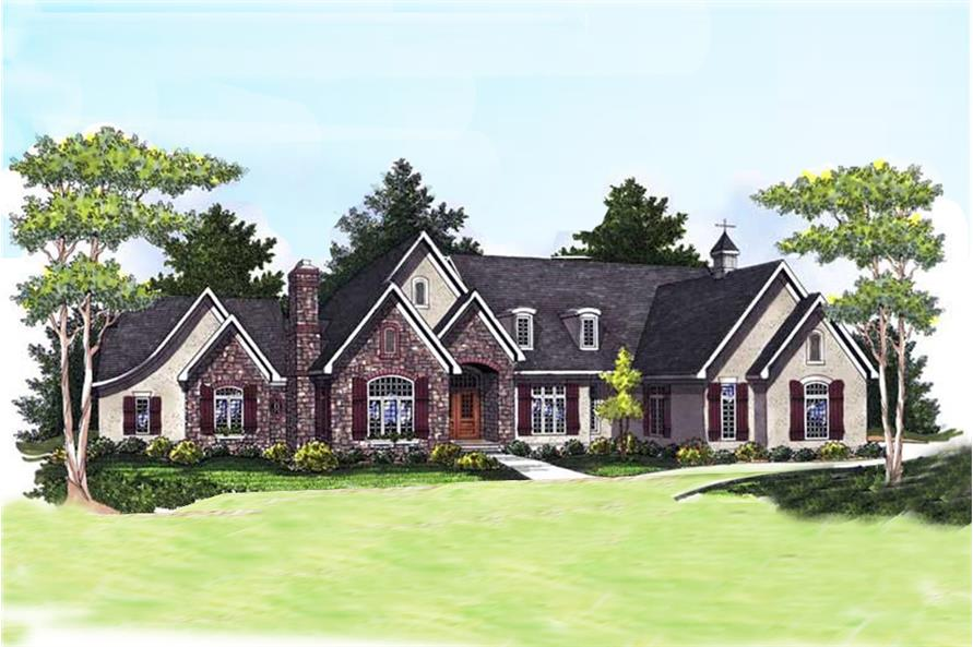 Traditional style Ranch home plan (ThePlanCollection: House Plan #101-1671)