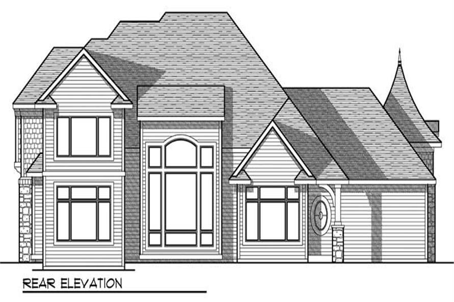 Home Plan Rear Elevation of this 3-Bedroom,2781 Sq Ft Plan -101-1676