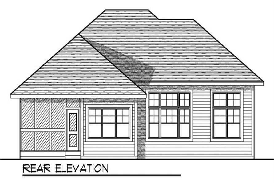 REAR ELEVATION of this 3-Bedroom,1627 Sq Ft Plan -1627
