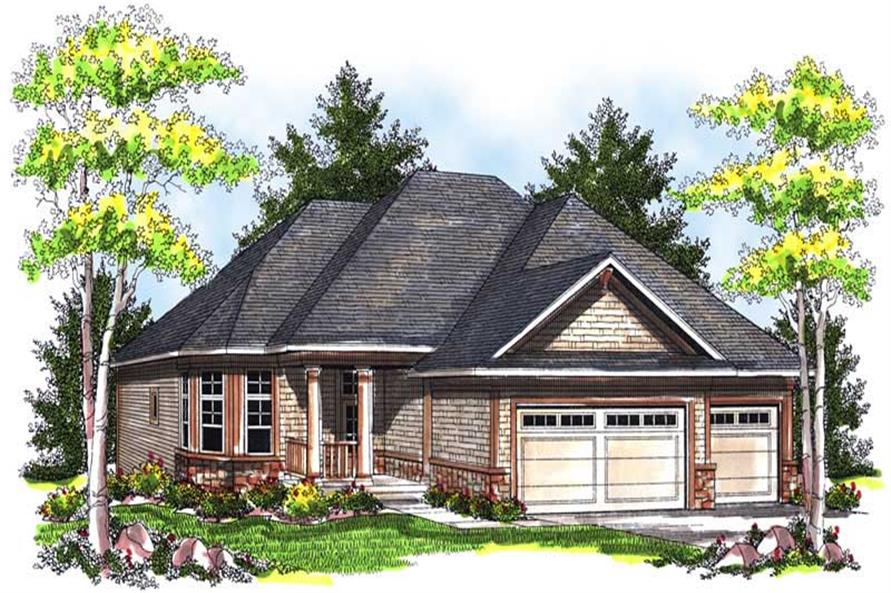 3-Bedroom, 1627 Sq Ft Ranch House Plan - 101-1680 - Front Exterior
