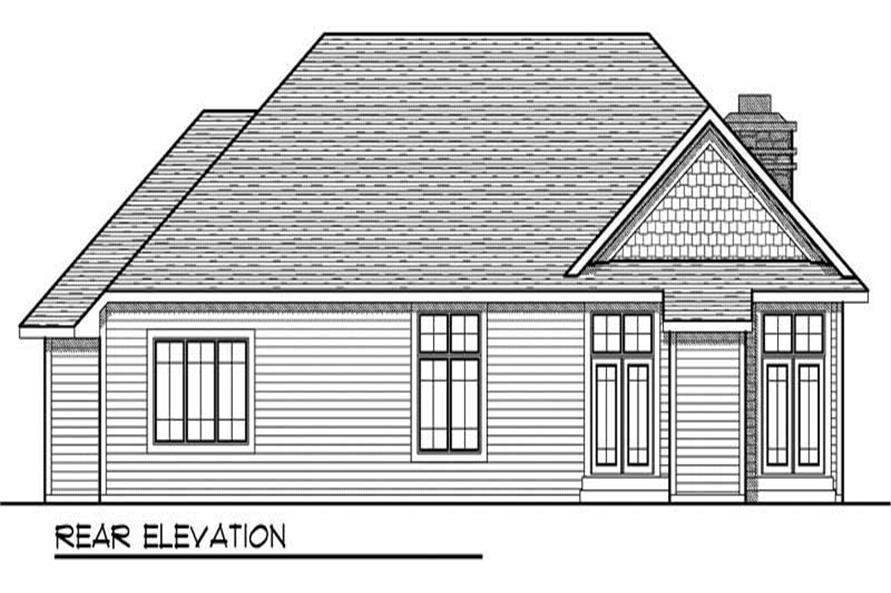 Home Plan Rear Elevation of this 3-Bedroom,1896 Sq Ft Plan -101-1681