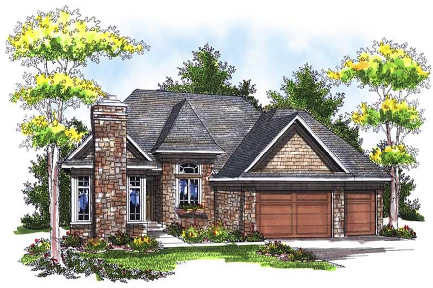 3-Bedroom, 1896 Sq Ft Ranch Home Plan - 101-1681 - Main Exterior