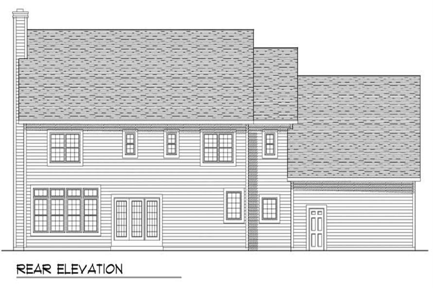 Home Plan Rear Elevation of this 4-Bedroom,3404 Sq Ft Plan -101-1682