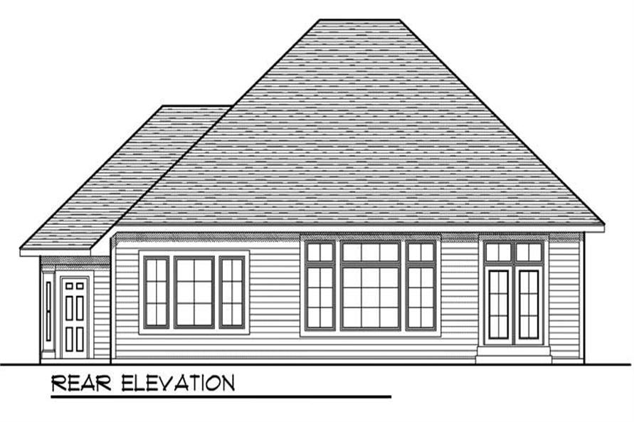 Home Plan Rear Elevation of this 3-Bedroom,1917 Sq Ft Plan -101-1683