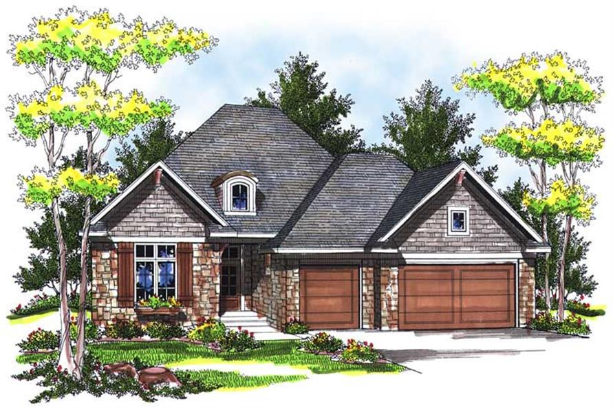 3-Bedroom, 1917 Sq Ft Craftsman Home Plan - 101-1683 - Main Exterior