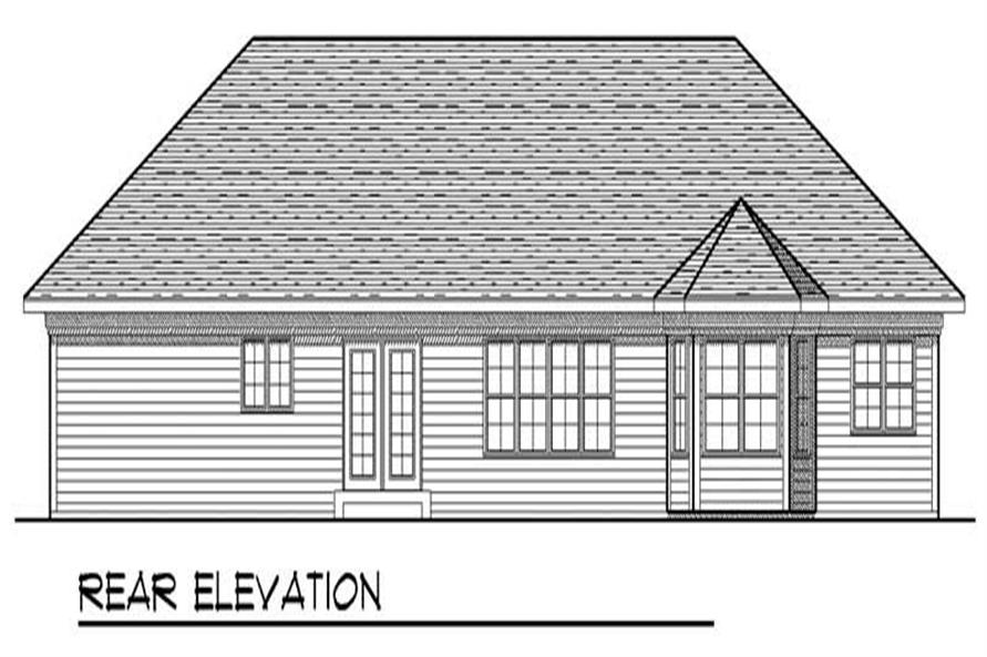 Home Plan Rear Elevation of this 3-Bedroom,1810 Sq Ft Plan -101-1691