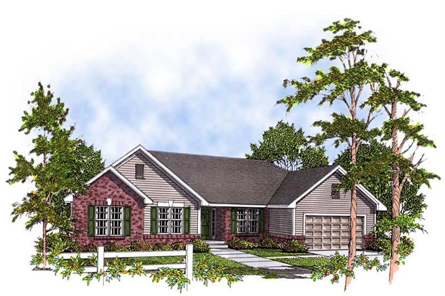 3-Bedroom, 1810 Sq Ft Ranch Home Plan - 101-1691 - Main Exterior
