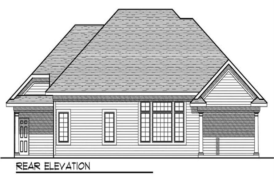 Home Plan Rear Elevation of this 3-Bedroom,1781 Sq Ft Plan -101-1692