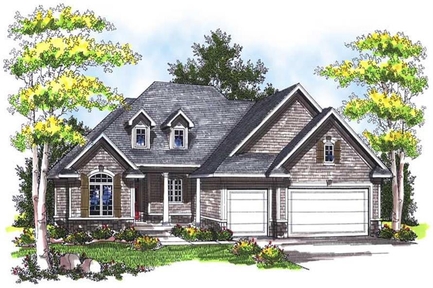 3-Bedroom, 1781 Sq Ft Colonial House Plan - 101-1692 - Front Exterior
