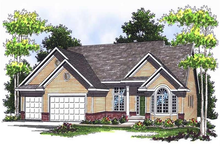 4-Bedroom, 3730 Sq Ft Ranch House Plan - 101-1695 - Front Exterior