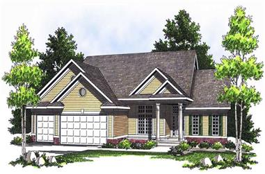 4-Bedroom, 3554 Sq Ft Ranch House Plan - 101-1696 - Front Exterior