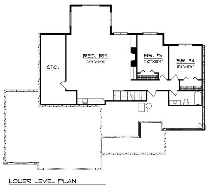 ranch home with 4 bdrms 3554 sq ft house plan 101 1696