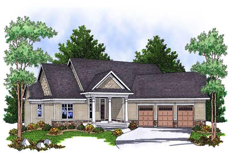 4-Bedroom, 3042 Sq Ft Ranch Home Plan - 101-1697 - Main Exterior