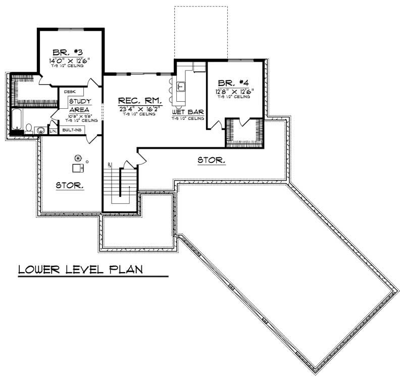ranch home with 4 bdrms 3042 sq ft house plan 101 1697