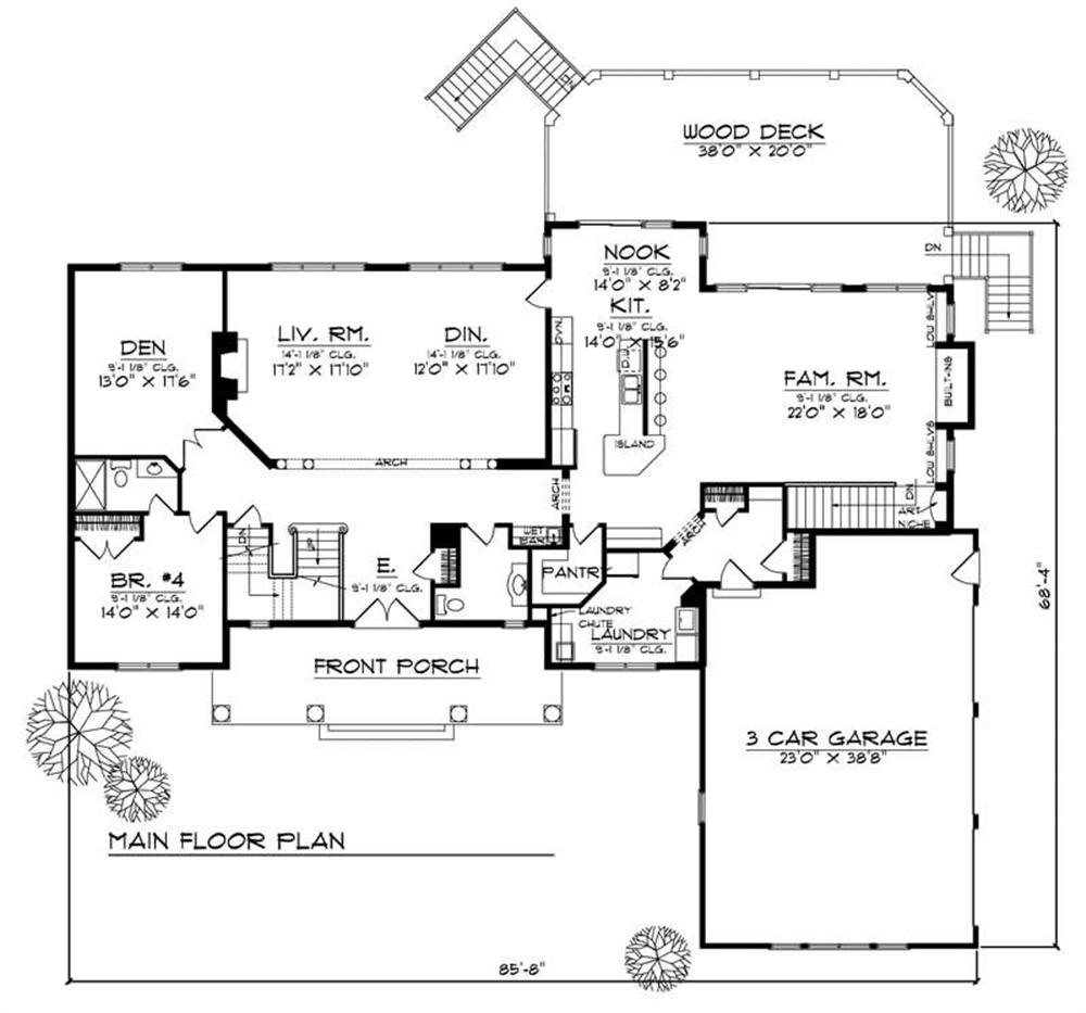 Large images for house plan 101 1698 for Main level floor plans
