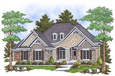 4-Bedroom, 3600 Sq Ft Ranch Home Plan - 101-1699 - Main Exterior