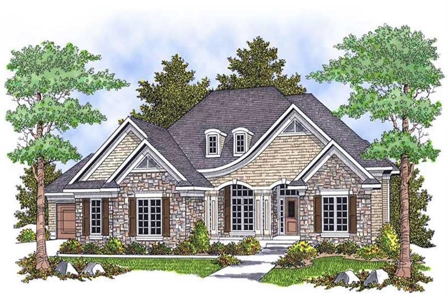 4-Bedroom, 3600 Sq Ft Ranch Home Plan - 101-1699 - Main Exterior
