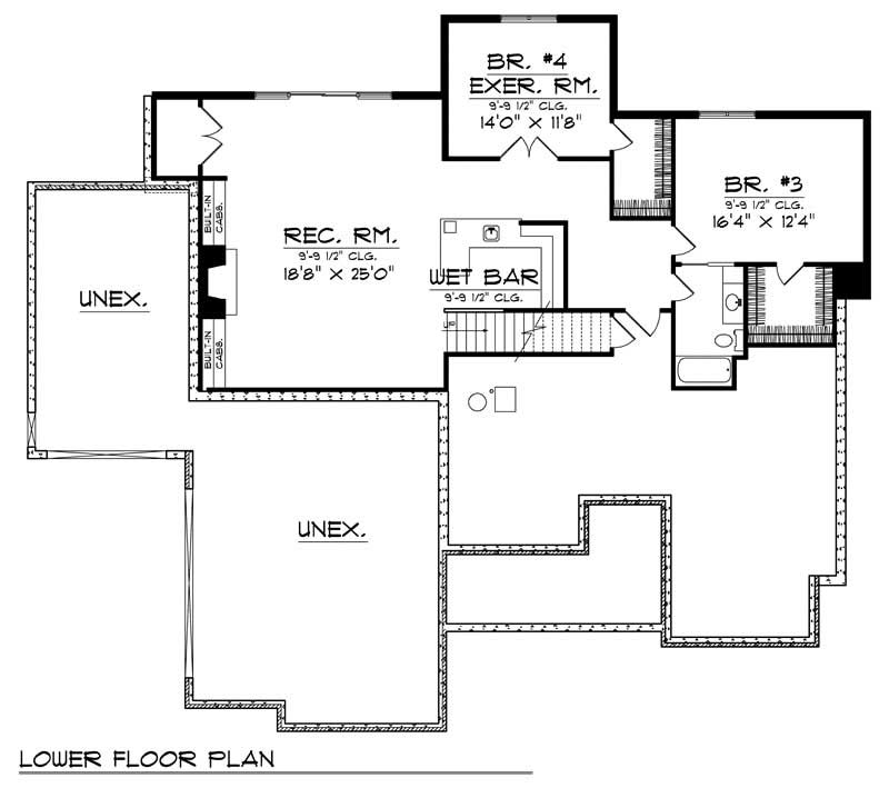 ranch home with 4 bdrms 3600 sq ft house plan 101 1699